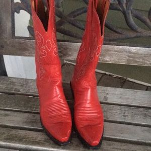 1883 Lucchese Tristan red Boots